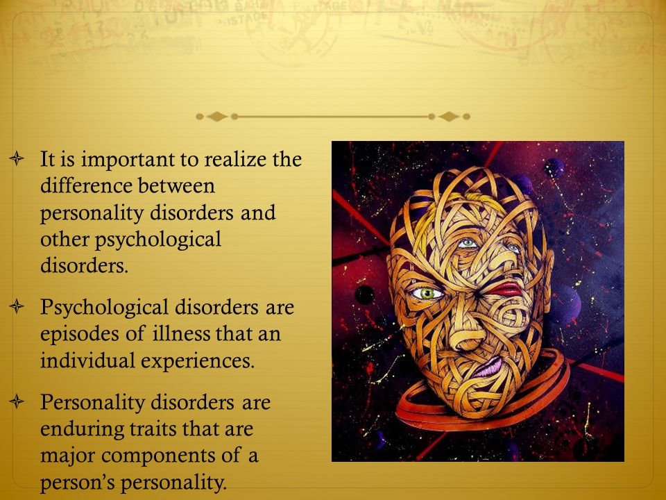 types of psychological disorders pdf
