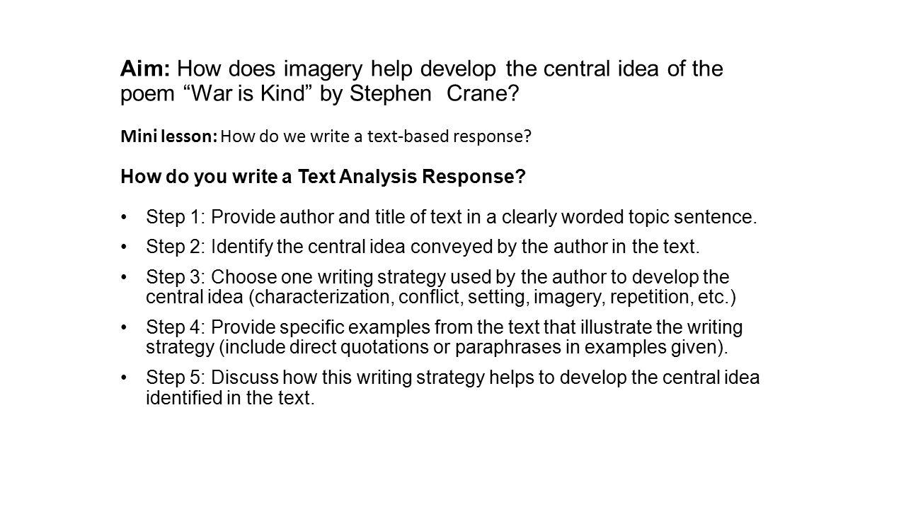 text analysis response examples