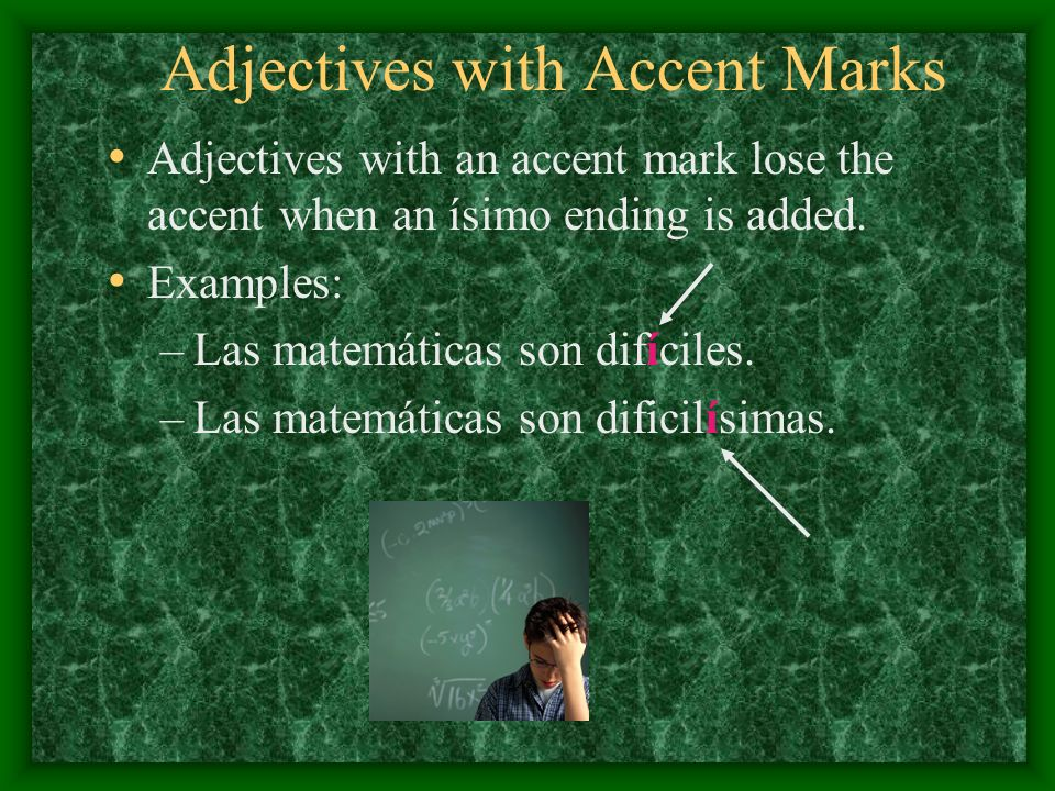 Adjectives with Accent Marks