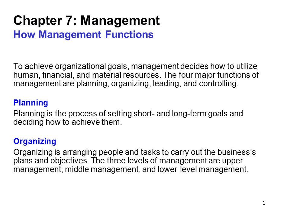 four levels of management