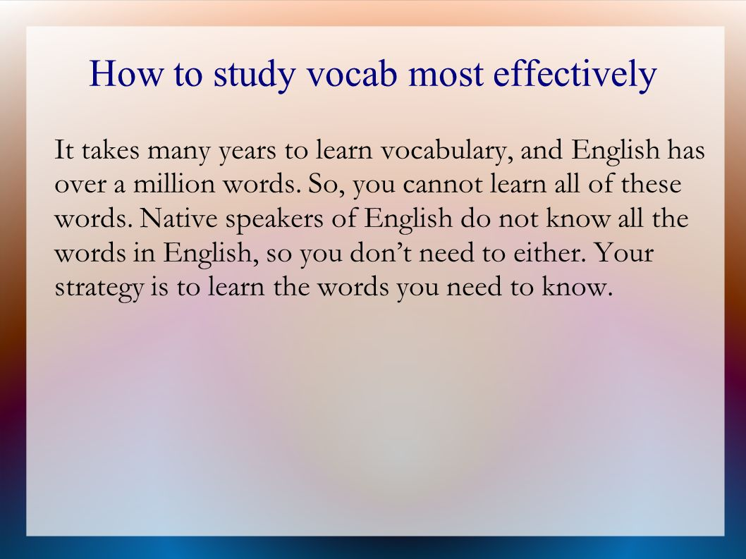 Vocabulary and understanding - ppt video online download