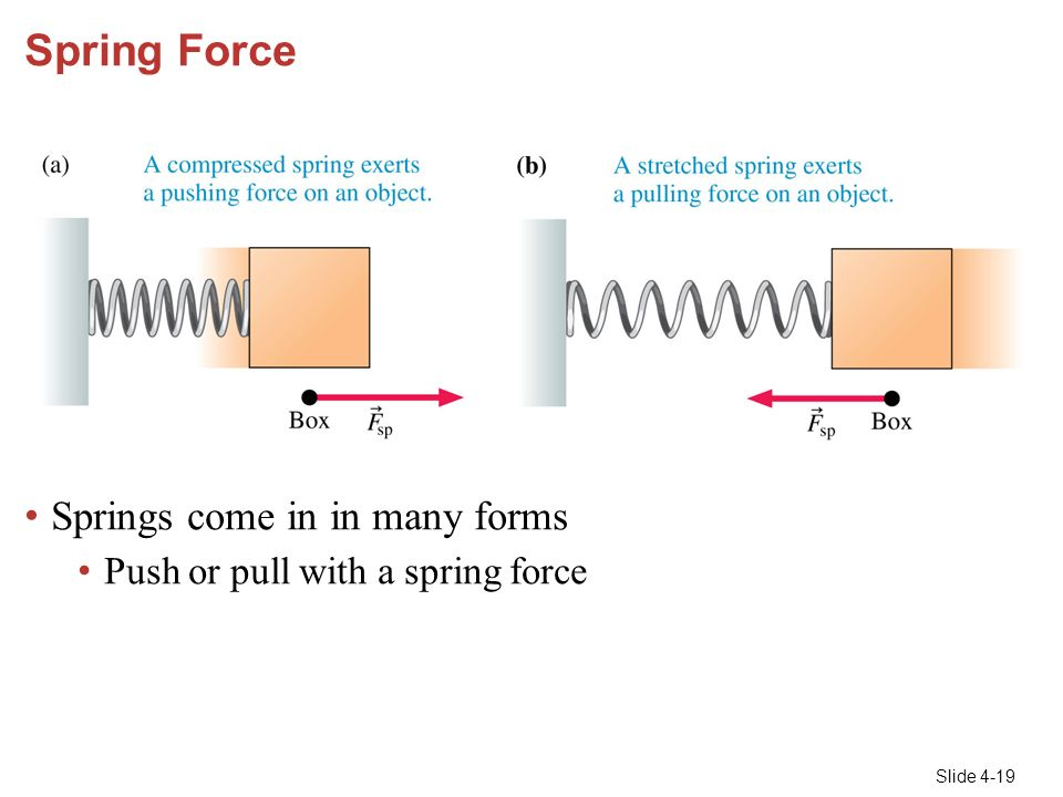 chapter 4 forces and newton's laws of motion ppt video online download  diagram of spring force #13