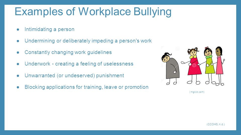 bullying at the workplace using intimidation Intimidation vs bullying though there is a difference between intimidation and bullying, both are close in action and thus, some take them as words having the same meaning and use them interchangeably.