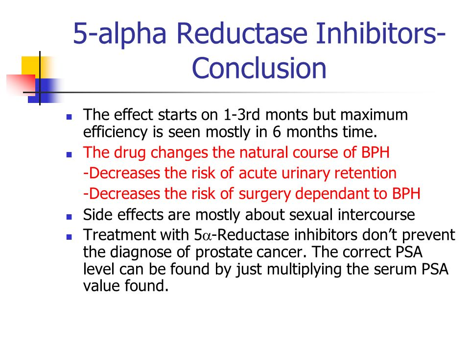 5 Alpha Reductase Inhibitors Conclusion