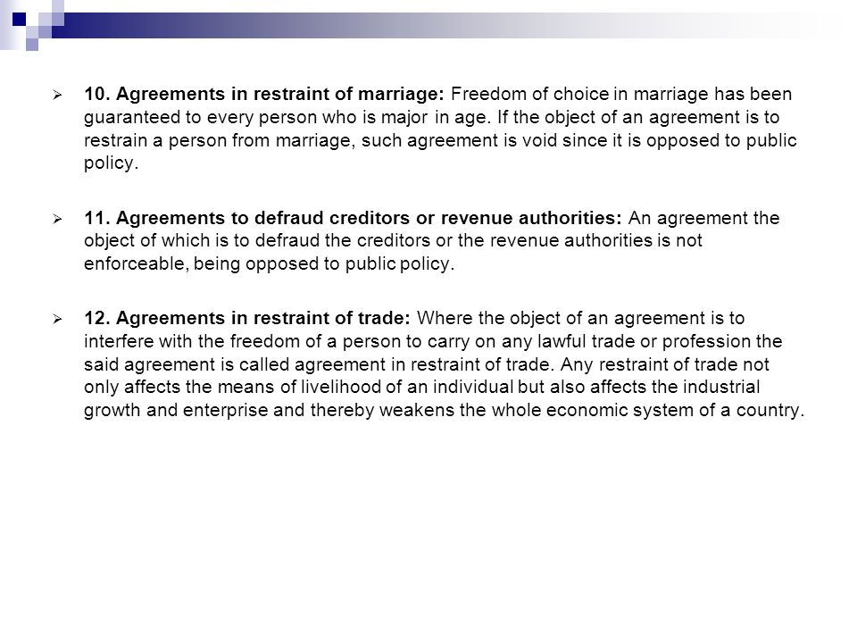 agreement against public policy