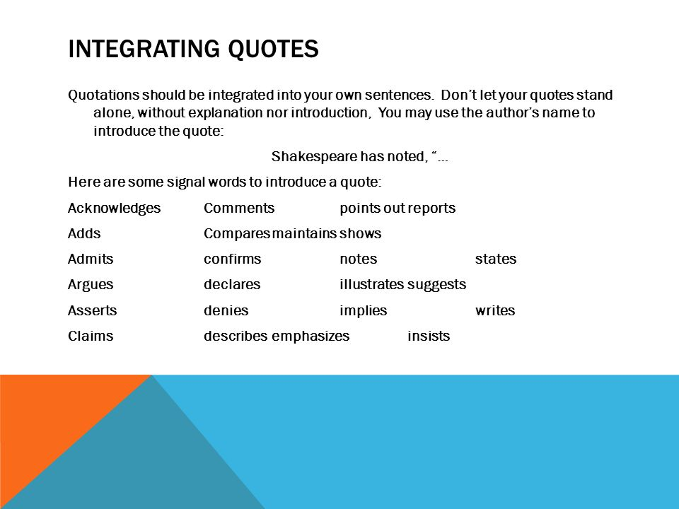 words to introduce a quote