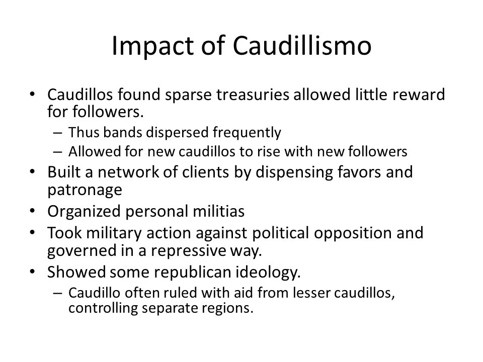 caudillismo definition