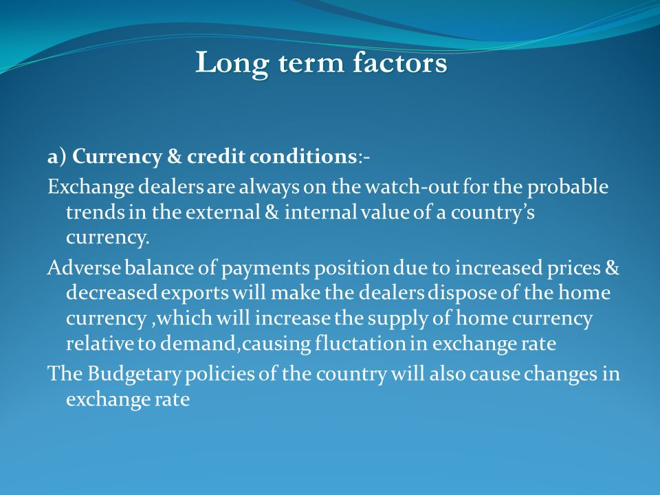 internal value of currency