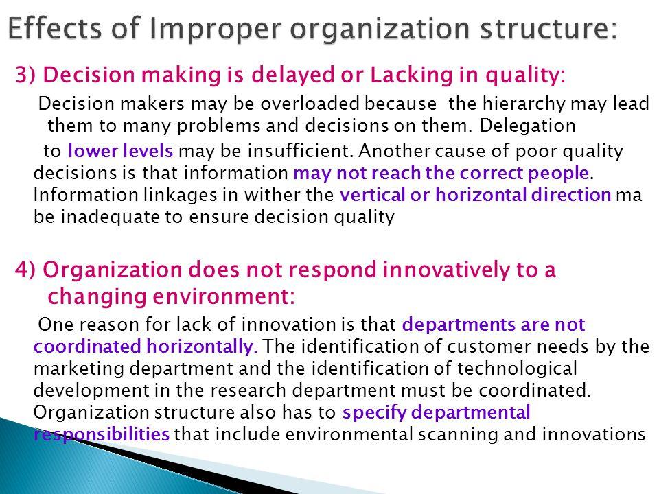 poor organizational structure