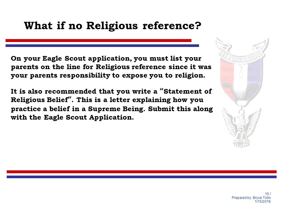 Eagle Scout Recommendation Letter Sample from slideplayer.com