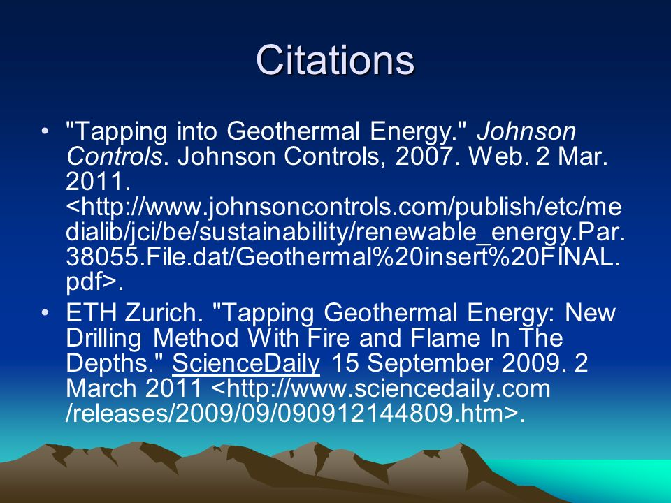 About Geothermal Energy by Kyle Bryant and Sèan Reeser - ppt
