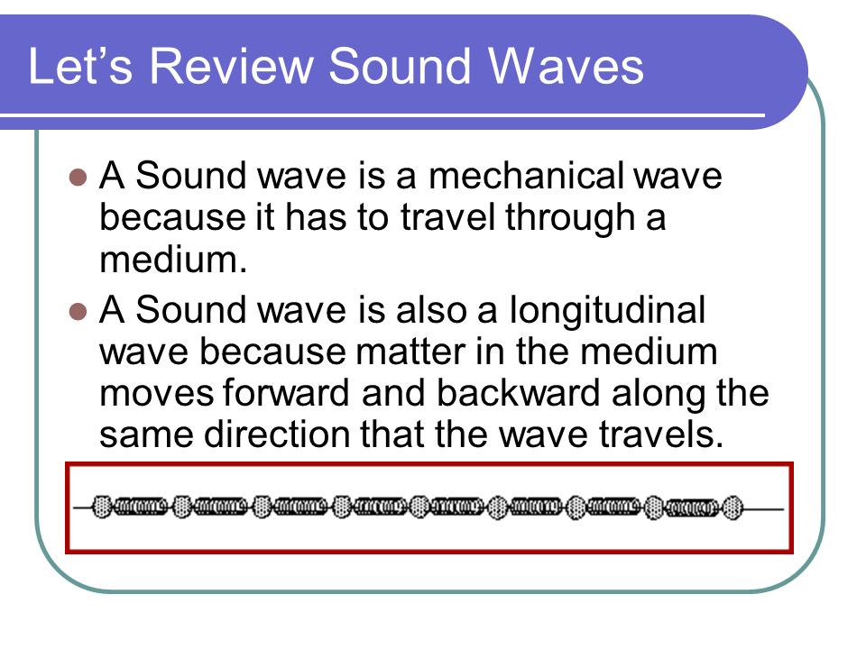 Let's Review Sound Waves