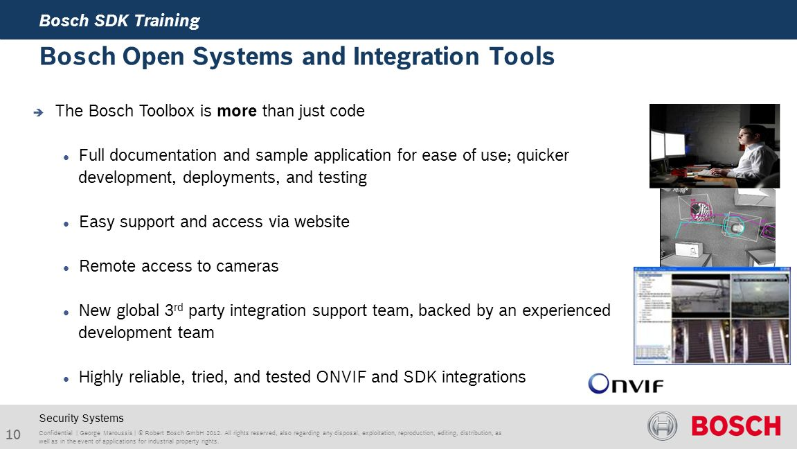 Bosch SDK's for 3rd Party Integrations - ppt video online