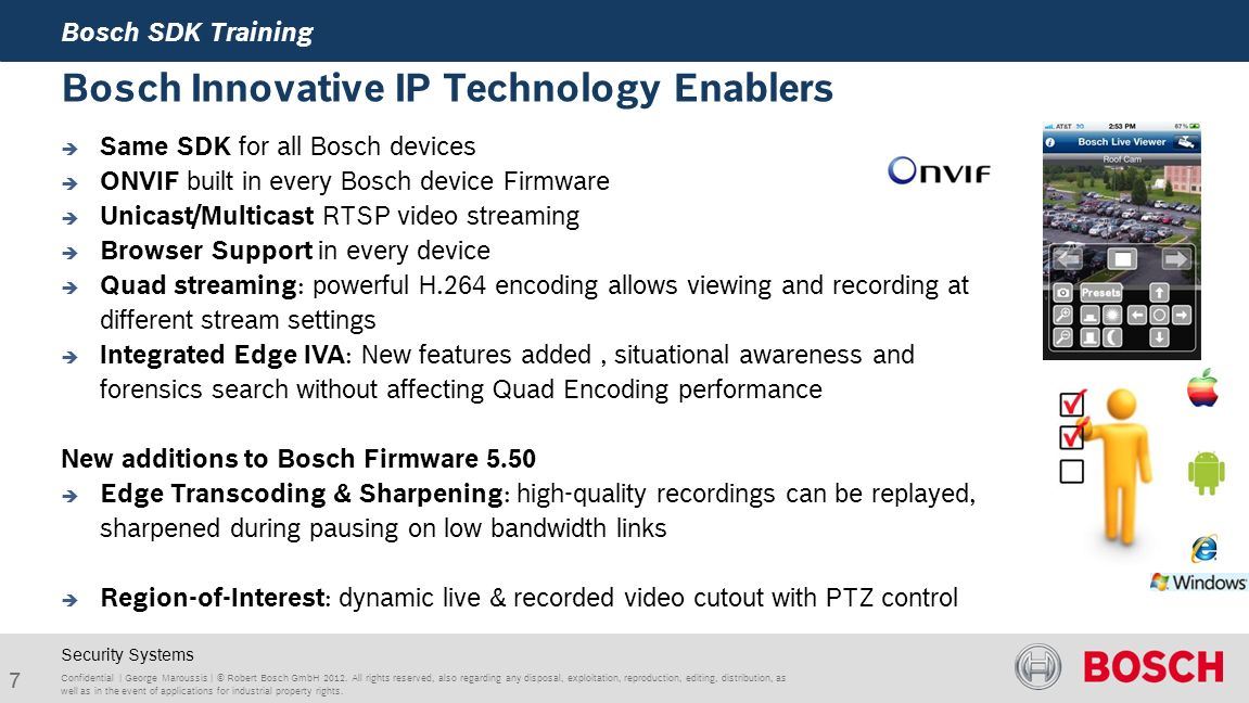Bosch SDK's for 3rd Party Integrations - ppt video online download