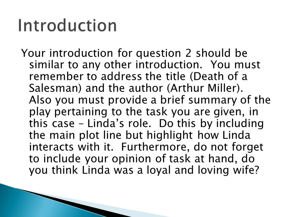 linda loman thesis statement