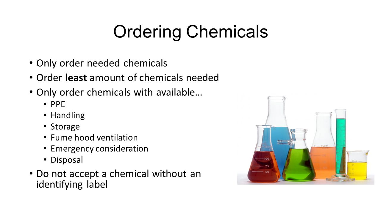 Order Chemicals