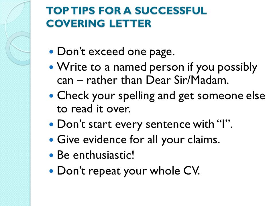 successful cover letters Writing your nursing cover letter when applying to a job, externship, or internship, you may also submit a cover letter (even if it's not required) because it's another opportunity for you to connect your strengths with the employer's needs.