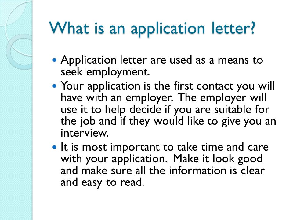 Application letters ppt video online download what is an application letter spiritdancerdesigns Choice Image