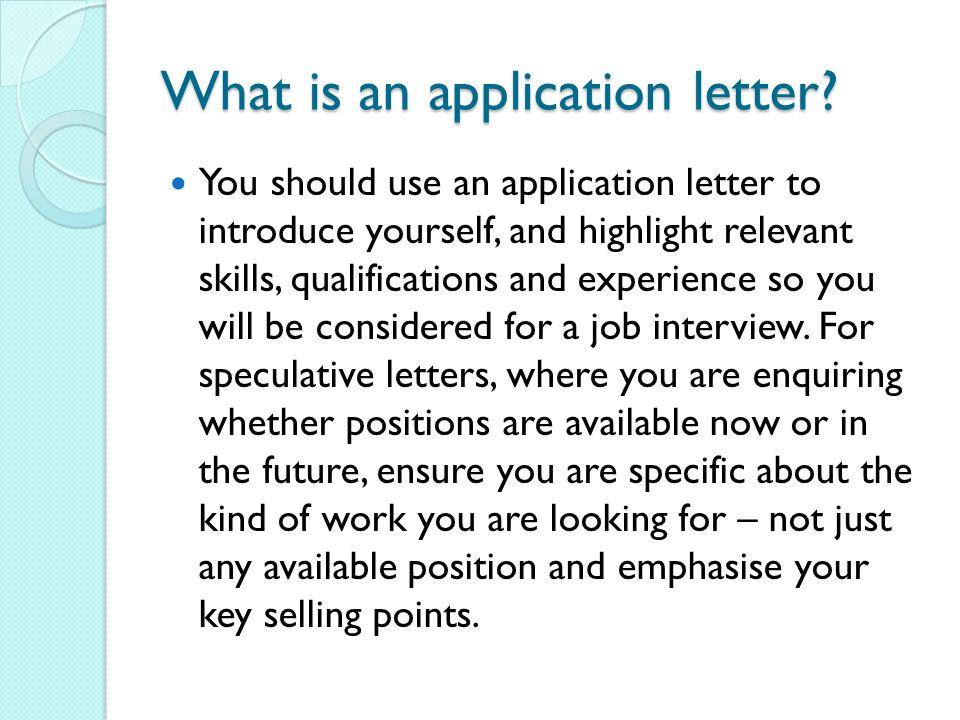 Application Letters Ppt Video Online Download