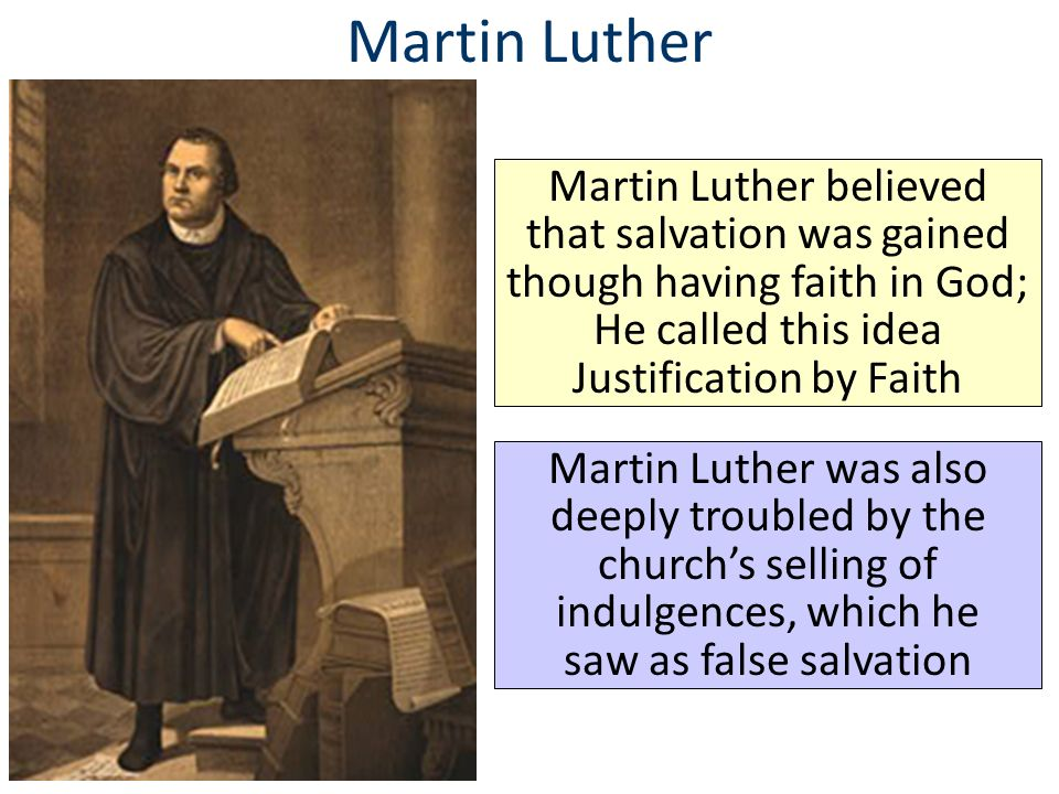 an essay on the protestant reformation under martin luther In the protestant reformation martin luther rejected the church's statement that doing good deed would give you salvation, he held the bible up as the sole source of religion, and he also rejected that the church hierarchy and priests had no special power.