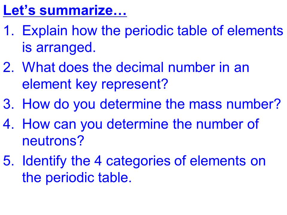 Topic chemistry aim explain how elements are classified in the explain how the periodic table of elements is arranged what does the urtaz Image collections