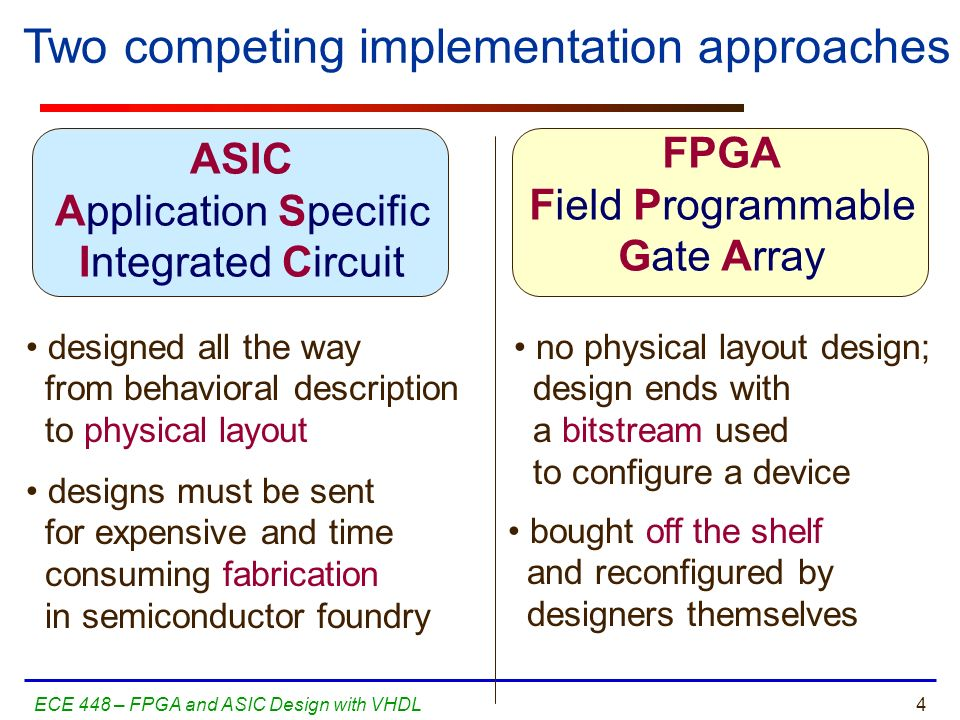 Two competing implementation approaches