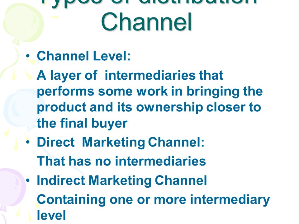 Distribution Channel-Definition - ppt download