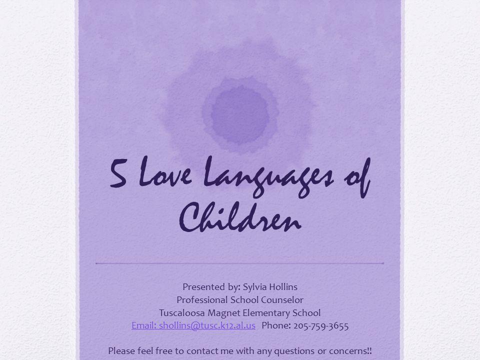 5 Love Languages Of Children
