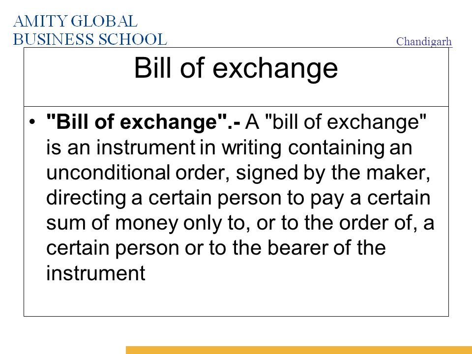 Negotiable instruments ppt video online download bill of exchange thecheapjerseys Gallery