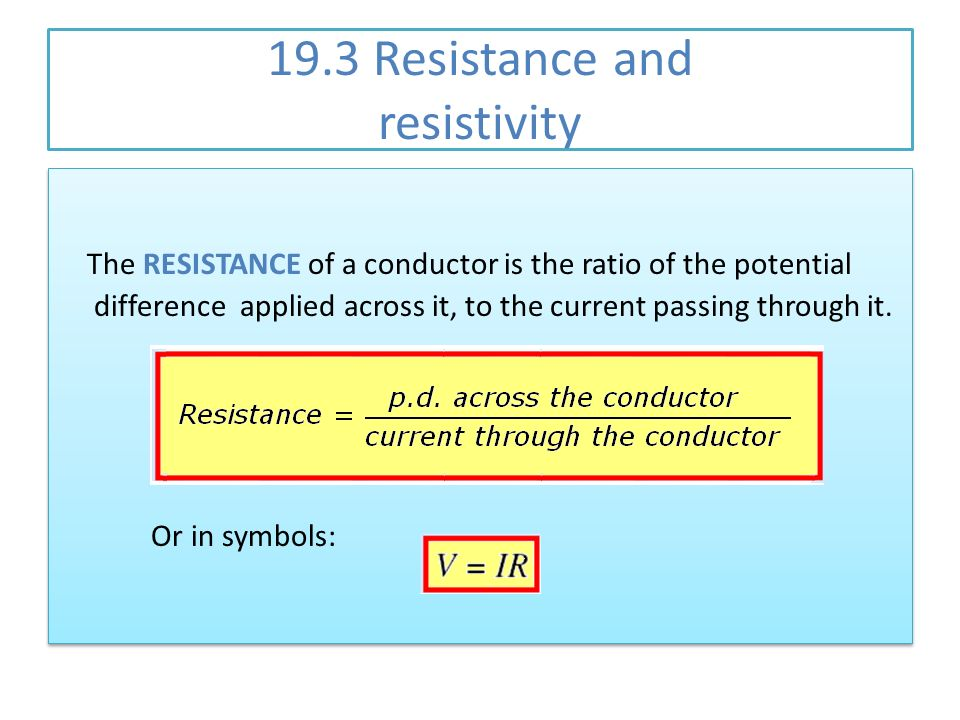 19.3 Resistance and resistivity - ppt video online download