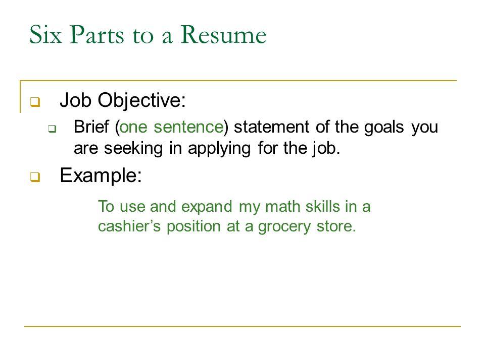 writing a resume