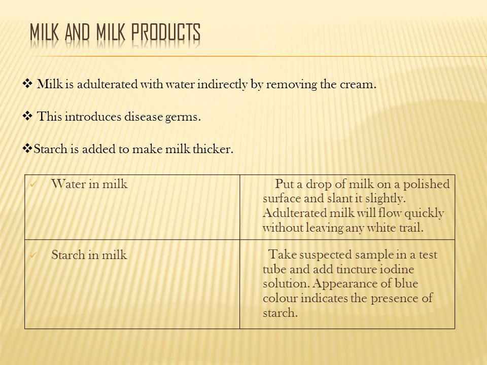 common adulterants in food pdf