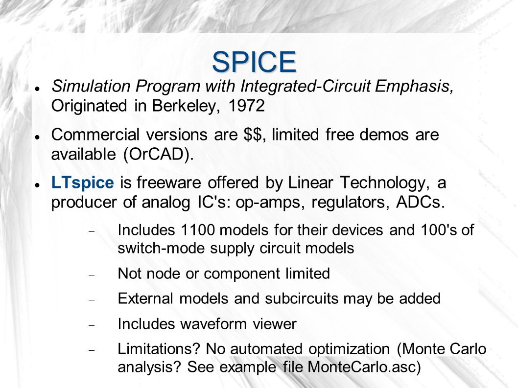 Spice Simulation Program With Integrated Circuit Emphasis Transistor Amplifier Designer Software Originated In Berkeley