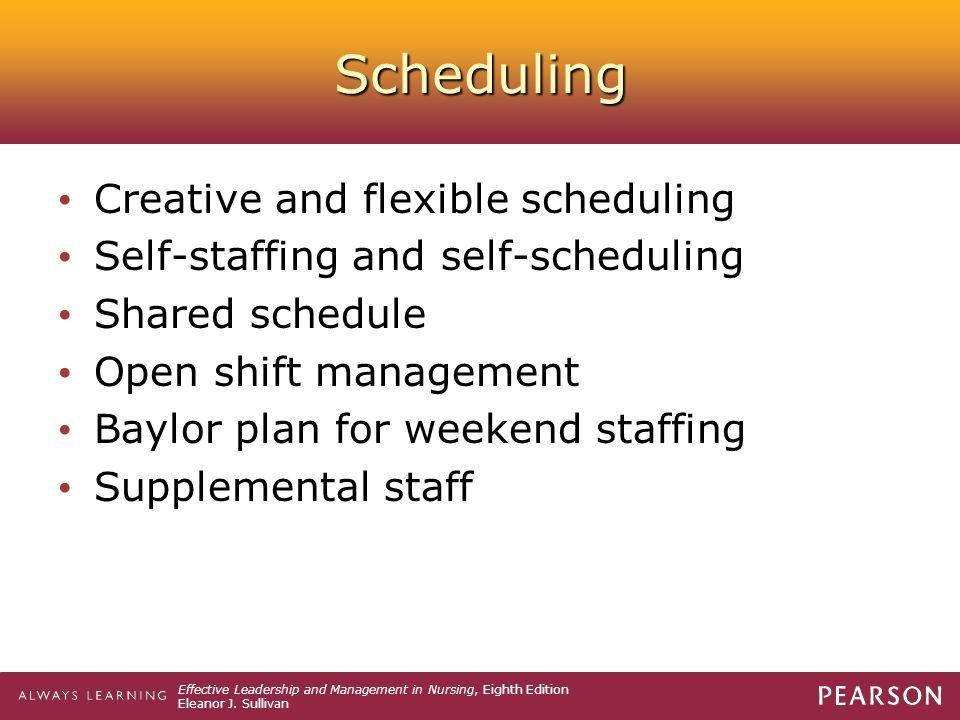 Staffing In Nursing Management