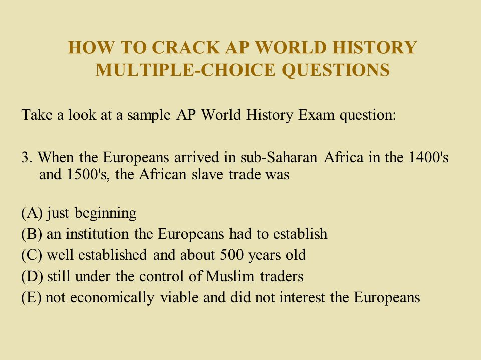 three types essays ap world history exam In fact, there actually used to be three essays on the ap world history test—in addition to the dbq, there was a change over time essay and a comparison essay now, there's just one long essay be sure to compare older questions with the most up-to-date examples from the most current ap course and exam description.
