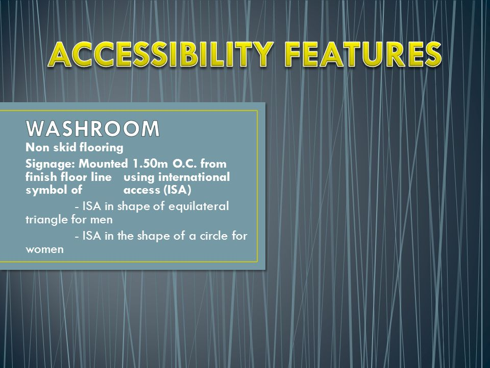Accessibility Law Minimum Requirements For Accessibility Ppt