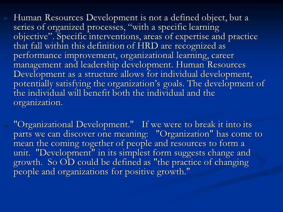human resource management interventions definition