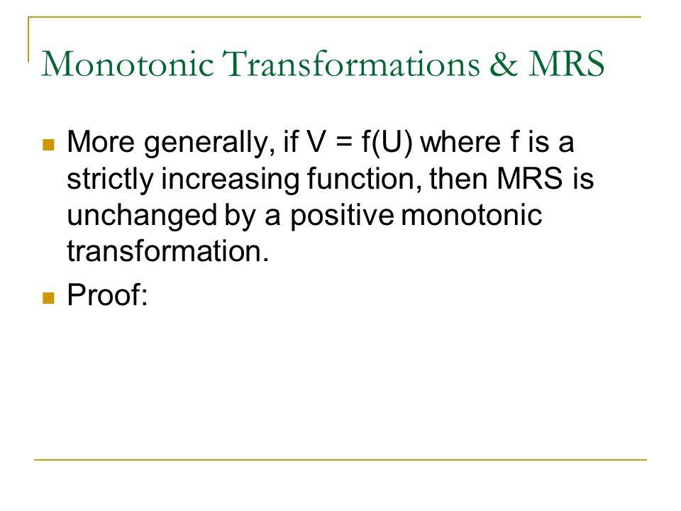 monotonic transformation economics
