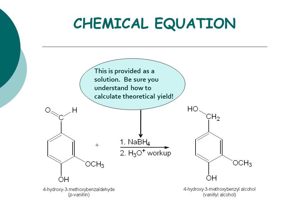 sodium borohydride reduction of vanillin mechanism
