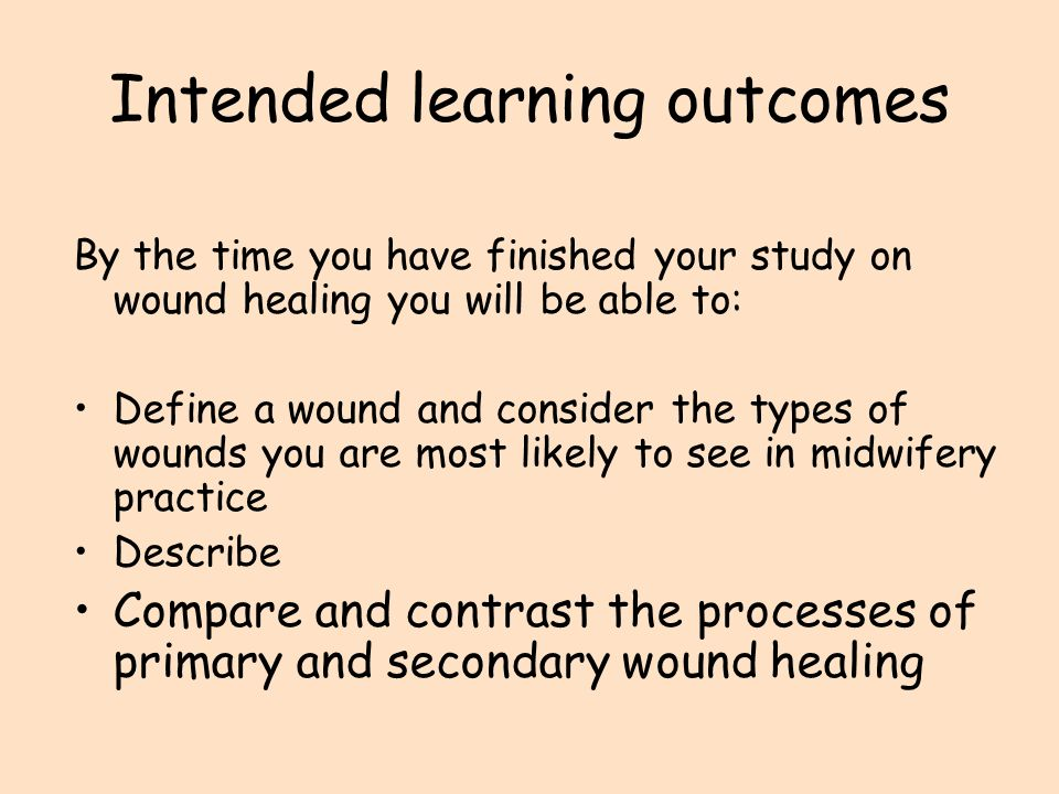 Wound Healing Guided Learning Resource - ppt video online