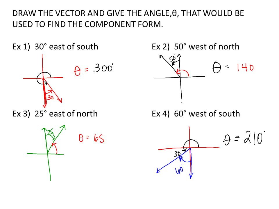 Vectors word problems ppt video online download draw the vector and give the angle that would be used to find ccuart Gallery