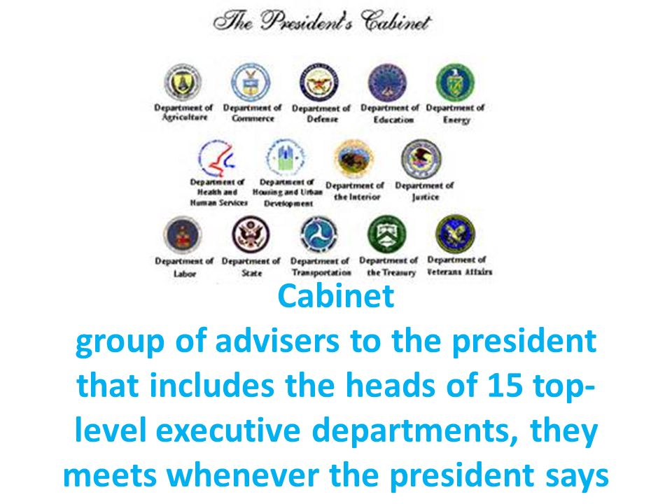 15 cabinet departments chapter 6 the executive branch ppt 10034