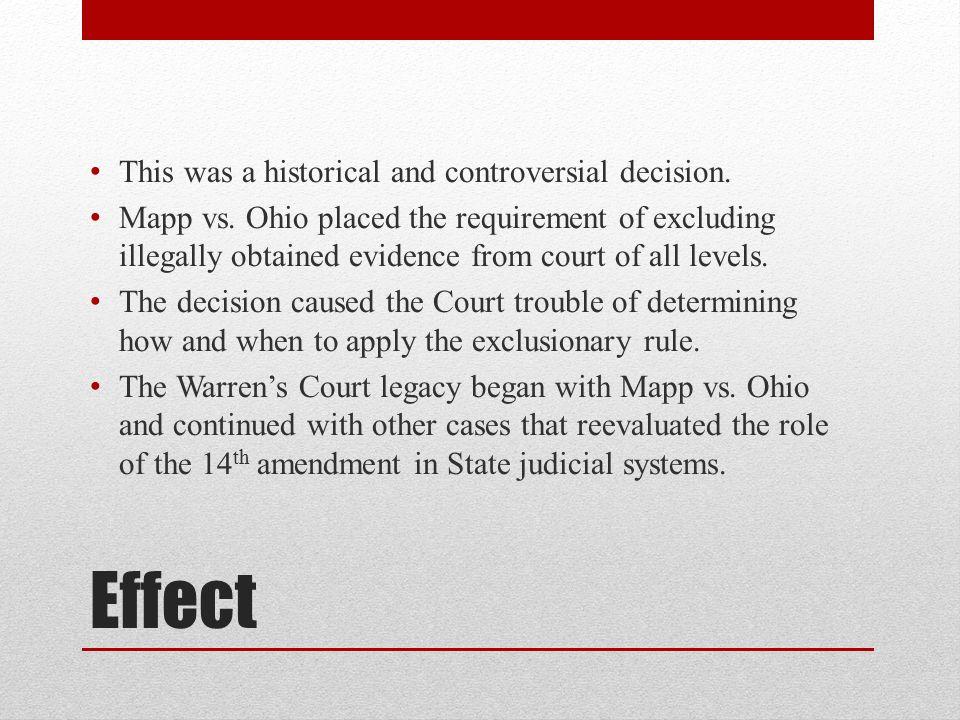 The Significance Of The Scenario (Mapp v. Ohio)