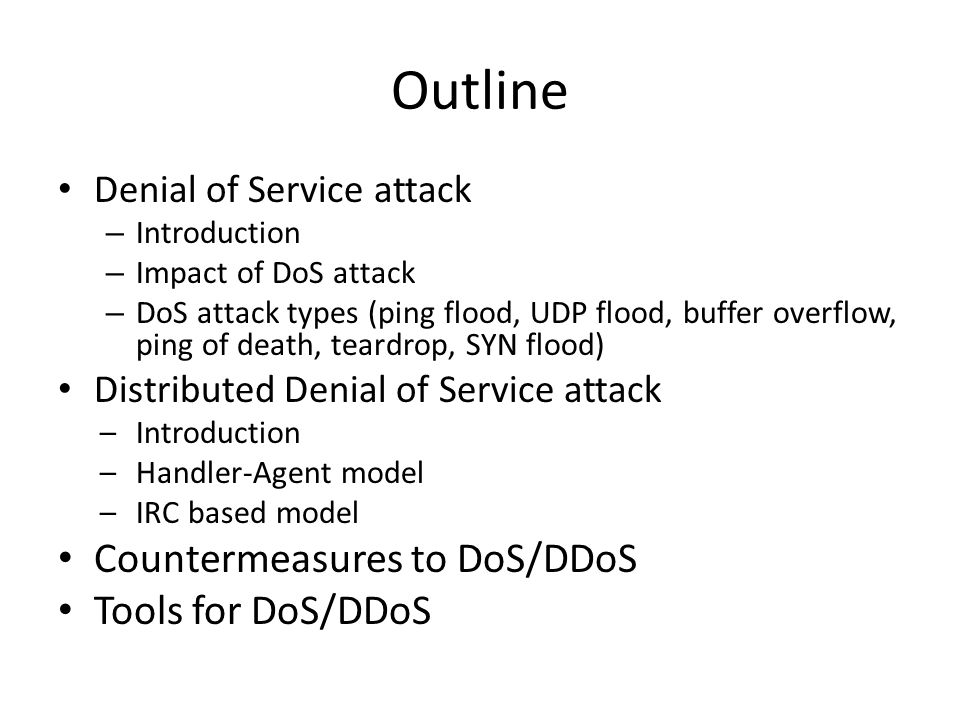 DoS/DDoS attack and defense - ppt video online download