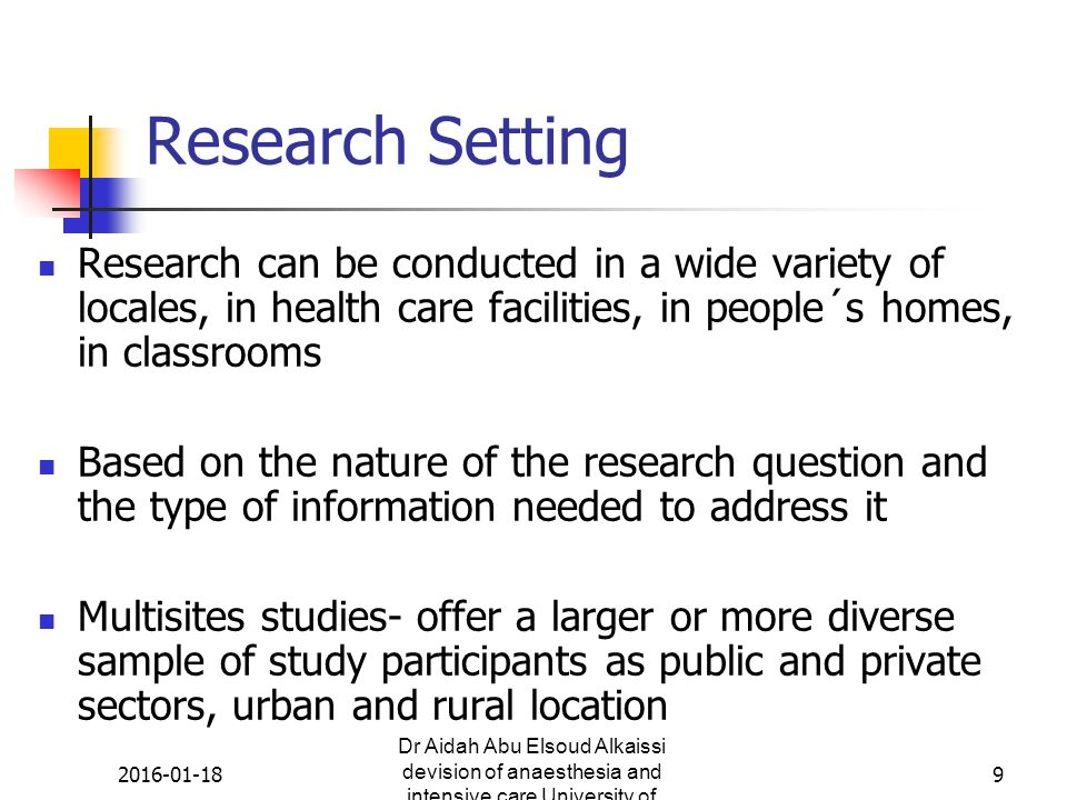 4: variables | research issues in the assessment of birth settings.