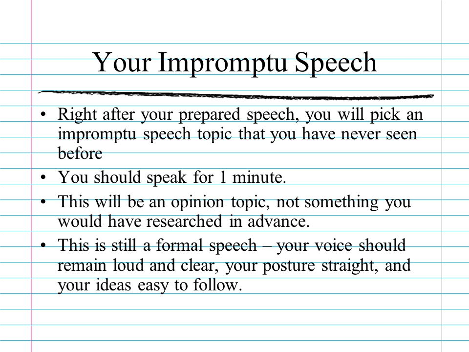 impromptu speech topics college