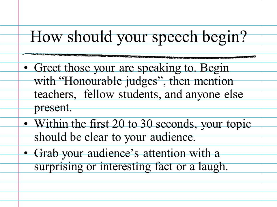 What makes a great speech ppt download how should your speech begin m4hsunfo