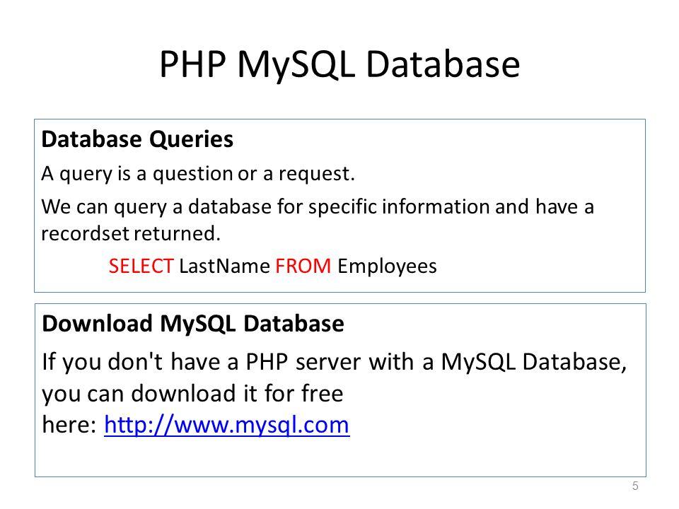 CHAPTER 10 PHP MySQL Database - ppt video online download