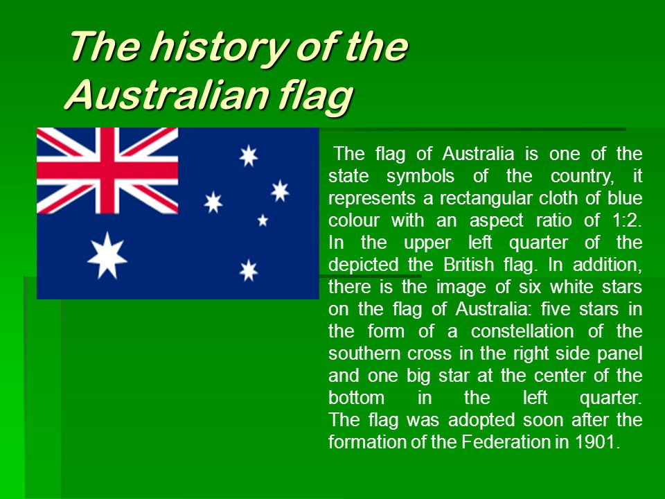 The History Of The Australian Flag Ppt Video Online Download