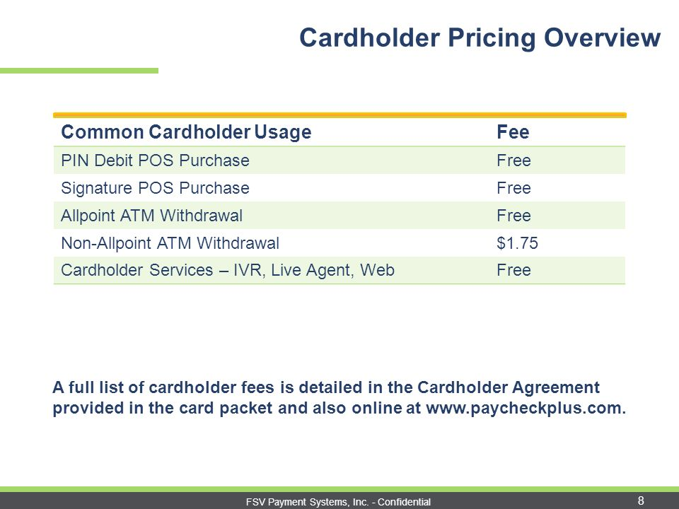 PaychekPLUS! Elite® Visa® Payroll Card Training ePay